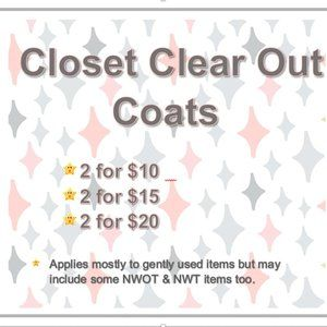 Clear out Coats